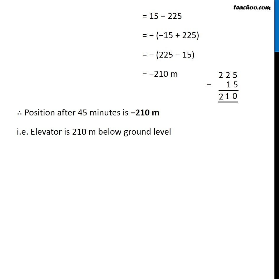 Example 5 - Chapter 1 Class 7 Integers - Part 5