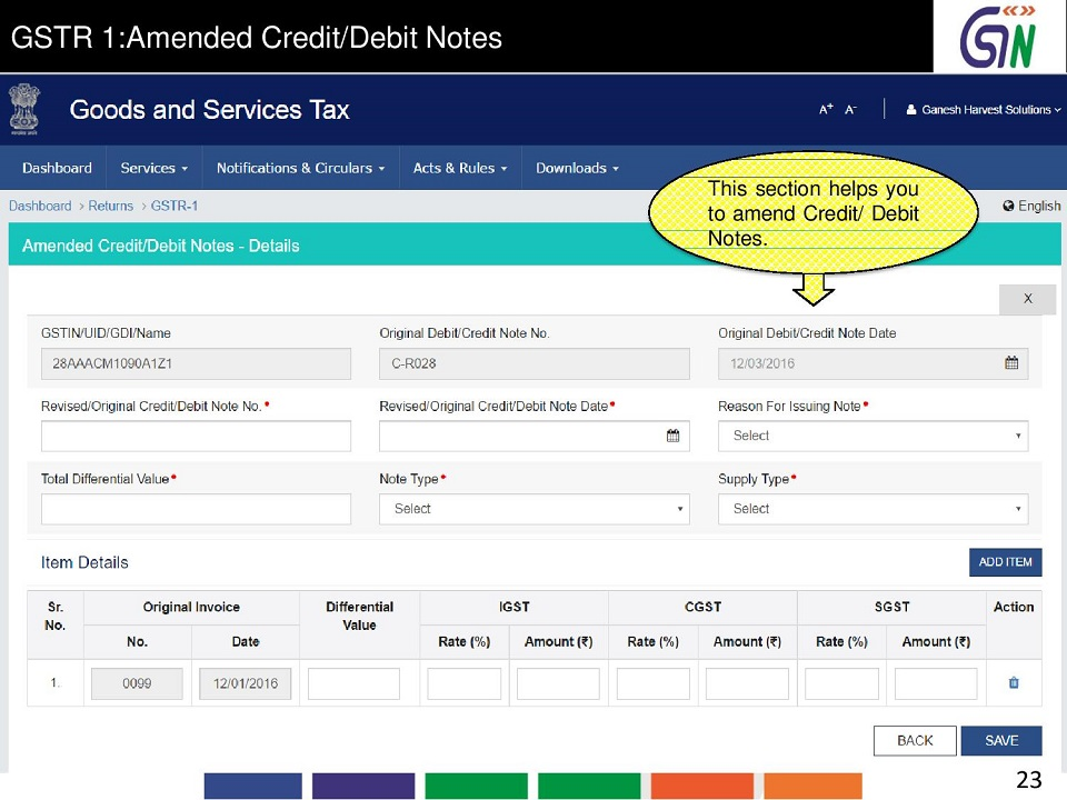 23 GSTR 1Amended CreditDebit Notes This section helps you to amend CreditDebit Notes..jpg