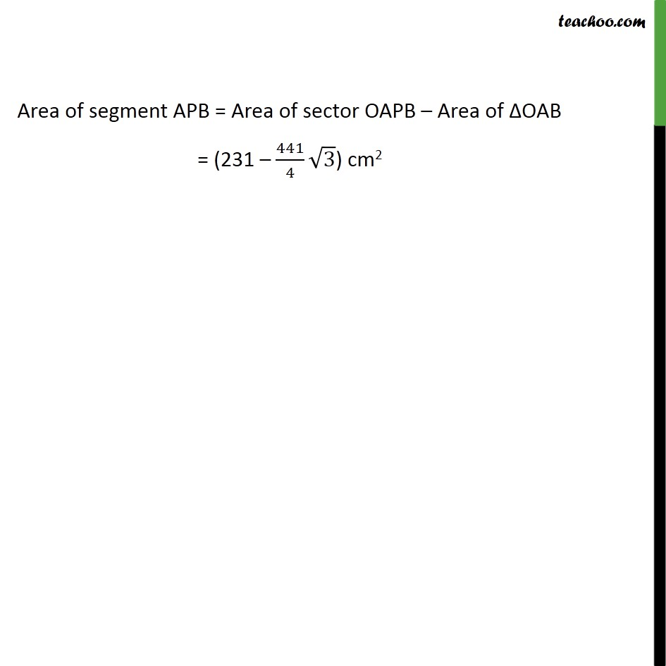 Ex 12.2, 5 - Chapter 12 Class 10 Areas related to Circles - Part 7