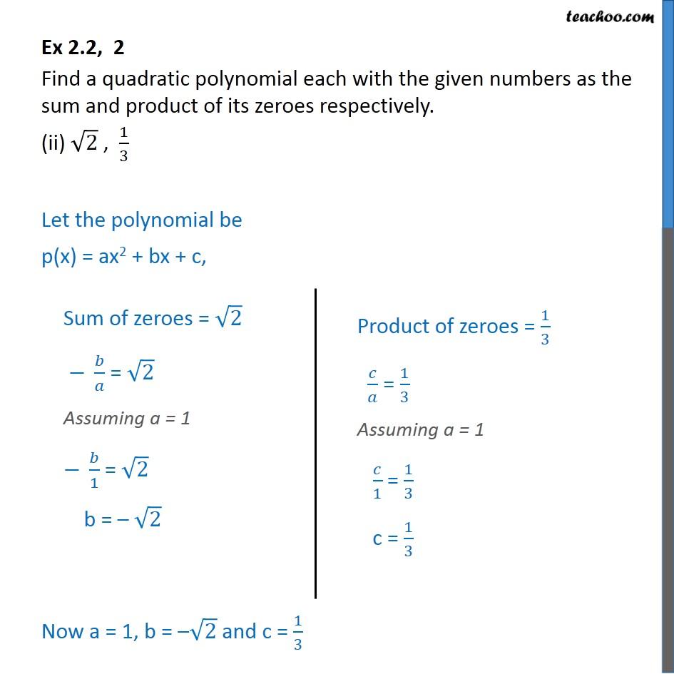 Ex 2.2, 2 - Chapter 2 Class 10 Polynomials - Part 3