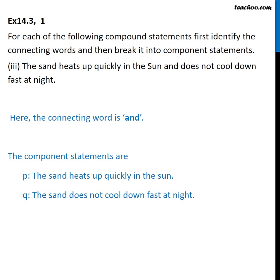 Ex 14.3,  1 - Chapter 14 Class 11 Mathematical Reasoning - Part 3
