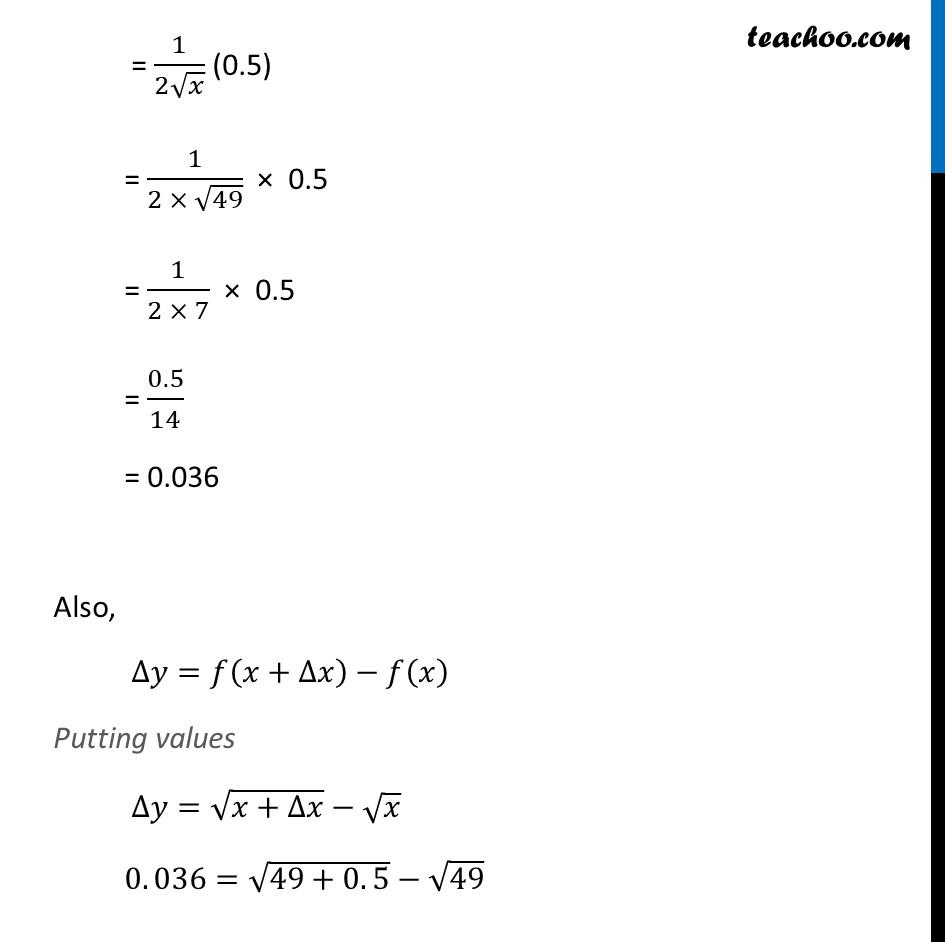 Ex 6.4, 1 (ii) - Chapter 6 Class 12 Application of Derivatives - Part 2