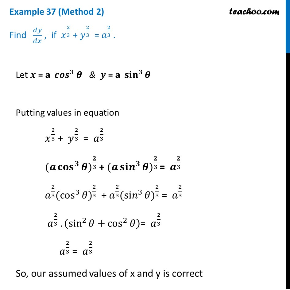 Example 37 - Chapter 5 Class 12 Continuity and Differentiability - Part 3