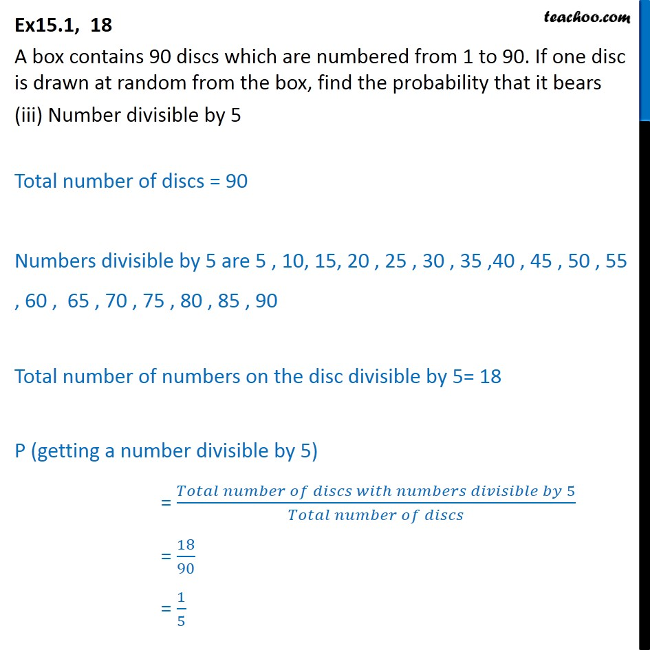 Ex 15.1, 18 - Chapter 15 Class 10 Probability - Part 4