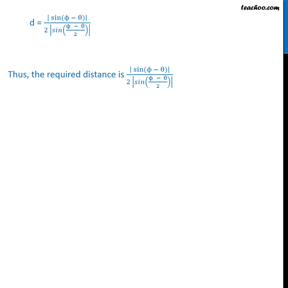 Misc 5 - Chapter 10 Class 11 Straight Lines - Part 6