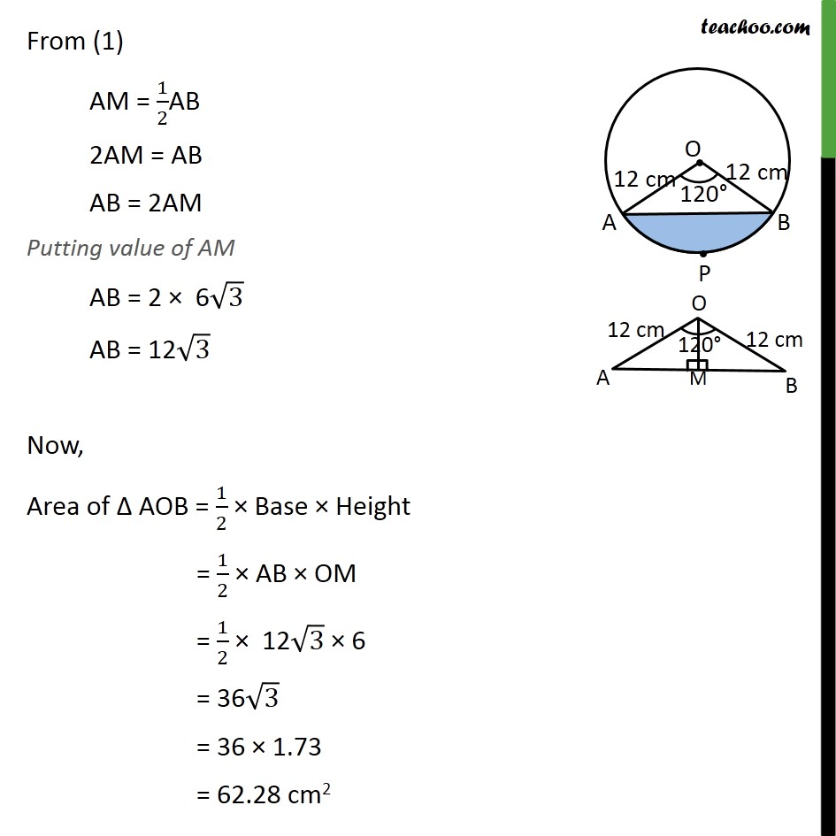 Ex 12.2, 7 - Chapter 12 Class 10 Areas related to Circles - Part 4