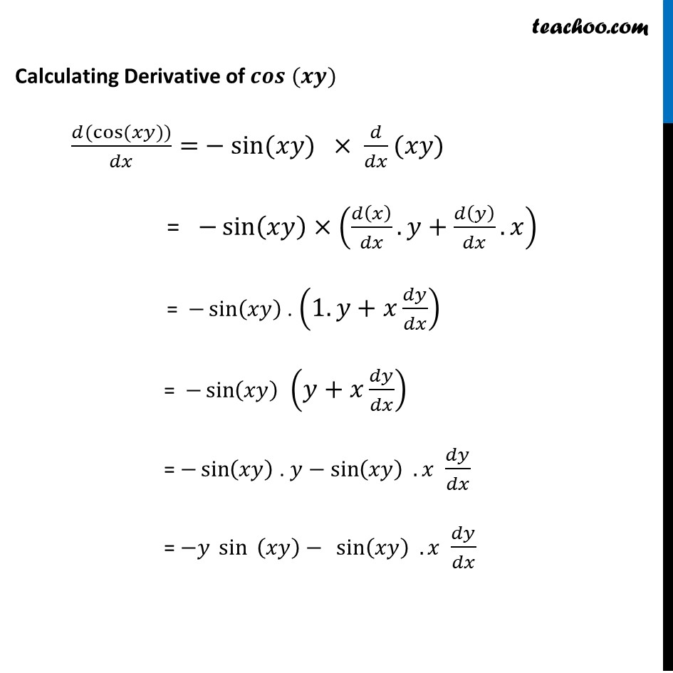 Ex 5.3, 7 - Chapter 5 Class 12 Continuity and Differentiability - Part 3