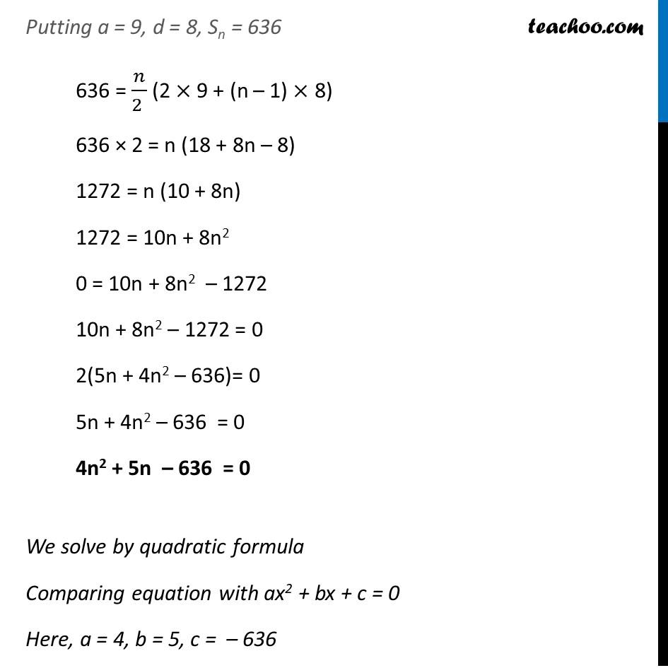 Ex 5.3, 4 - Chapter 5 Class 10 Arithmetic Progressions - Part 2