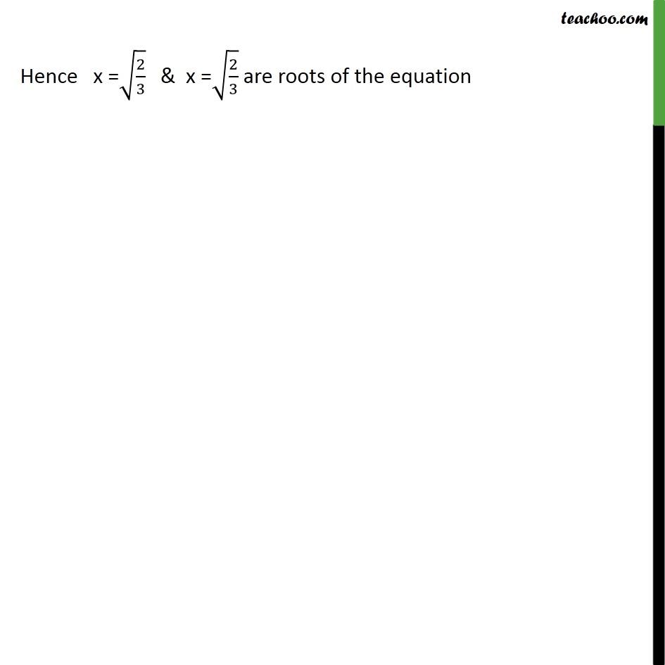 Example 5 - Chapter 4 Class 10 Quadratic Equations - Part 2