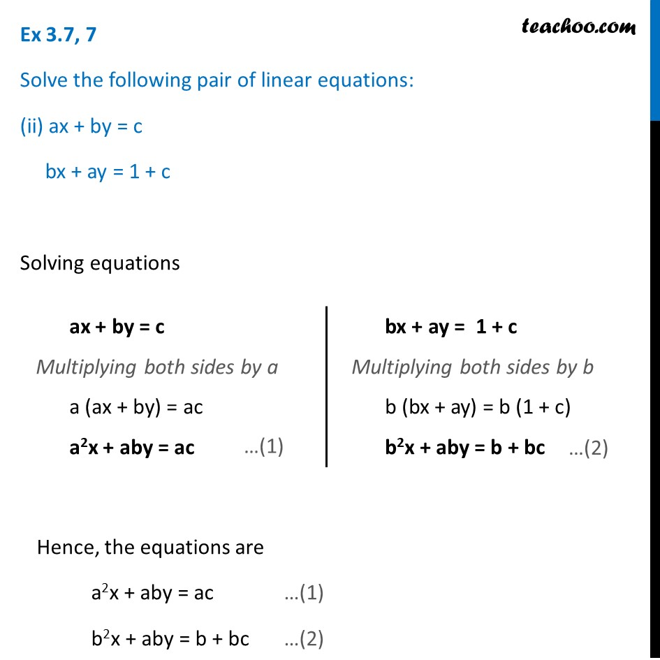 Ex 3.7, 7 (Optional) - Chapter 3 Class 10 Pair of Linear Equations in Two Variables - Part 5