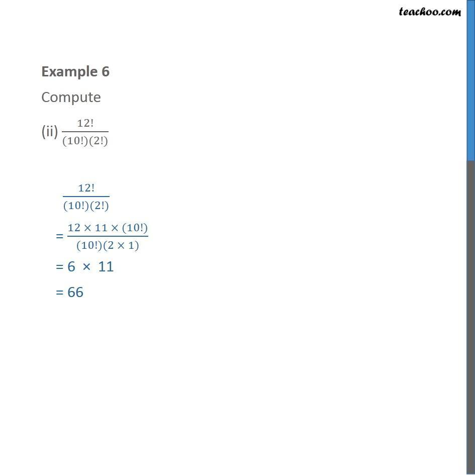 Example 6 - Chapter 7 Class 11 Permutations and Combinations - Part 2