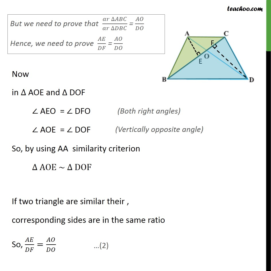 Ex 6.4, 3 - Chapter 6 Class 10 Triangles - Part 3