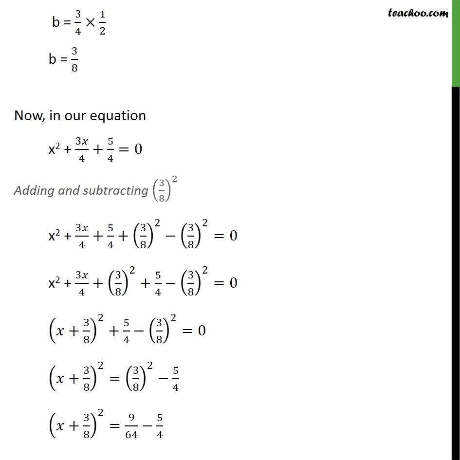 Example 9 - Chapter 4 Class 10 Quadratic Equations - Part 2