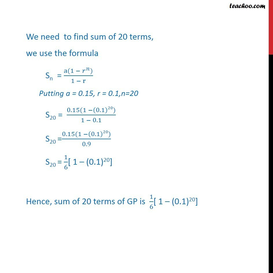 Ex 9.3, 7 - Chapter 9 Class 11 Sequences and Series - Part 2