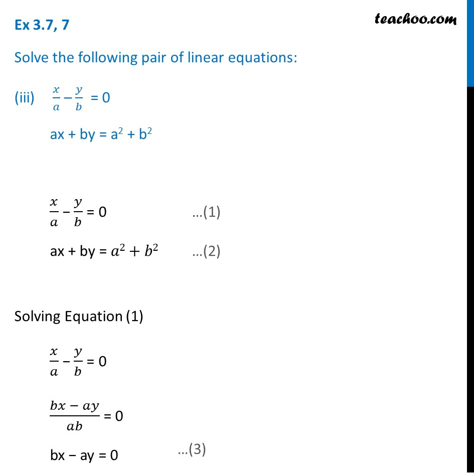 Ex 3.7, 7 (Optional) - Chapter 3 Class 10 Pair of Linear Equations in Two Variables - Part 10