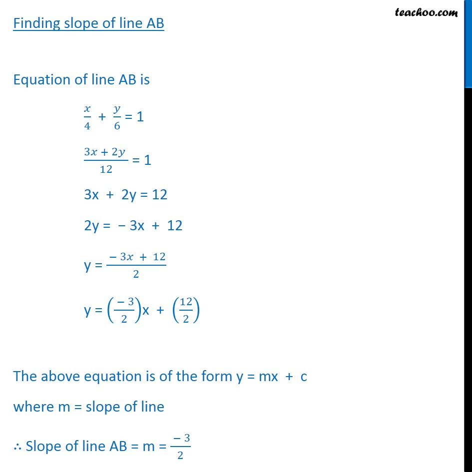 Misc 7 - Chapter 10 Class 11 Straight Lines - Part 3