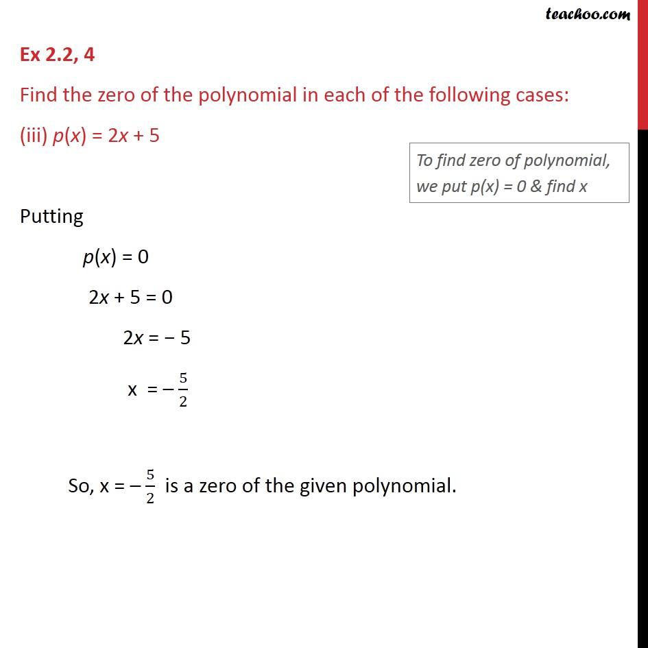Ex 2.2,4 - Chapter 2 Class 9 Polynomials - Part 3