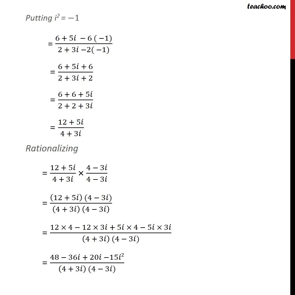 Example 12 - Chapter 5 Class 11 Complex Numbers - Part 2