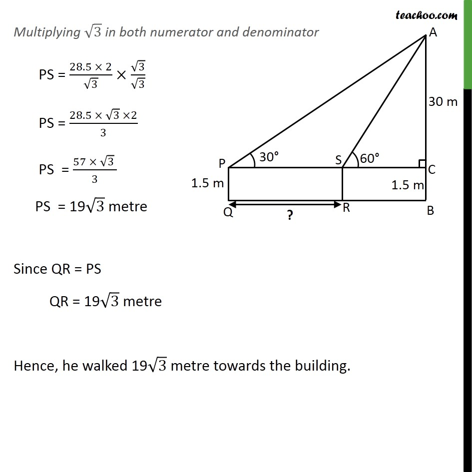 Ex 9.1, 6 - Chapter 9 Class 10 Some Applications of Trigonometry - Part 5