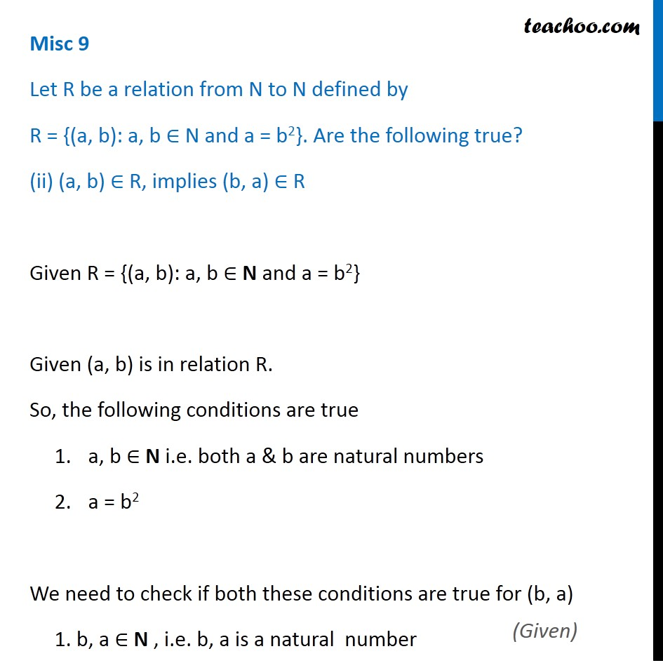 Misc 9 - Chapter 2 Class 11 Relations and Functions - Part 5