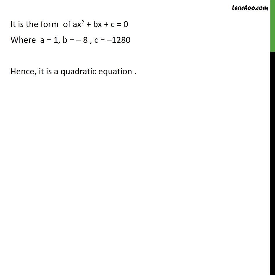 Ex 4.1, 2 (iv) - Chapter 4 Class 10 Quadratic Equations - Part 3
