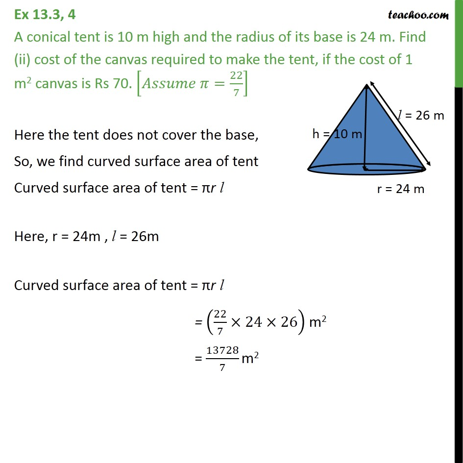 Ex 13.3, 4 - Chapter 13 Class 9 Surface Areas and Volumes - Part 2