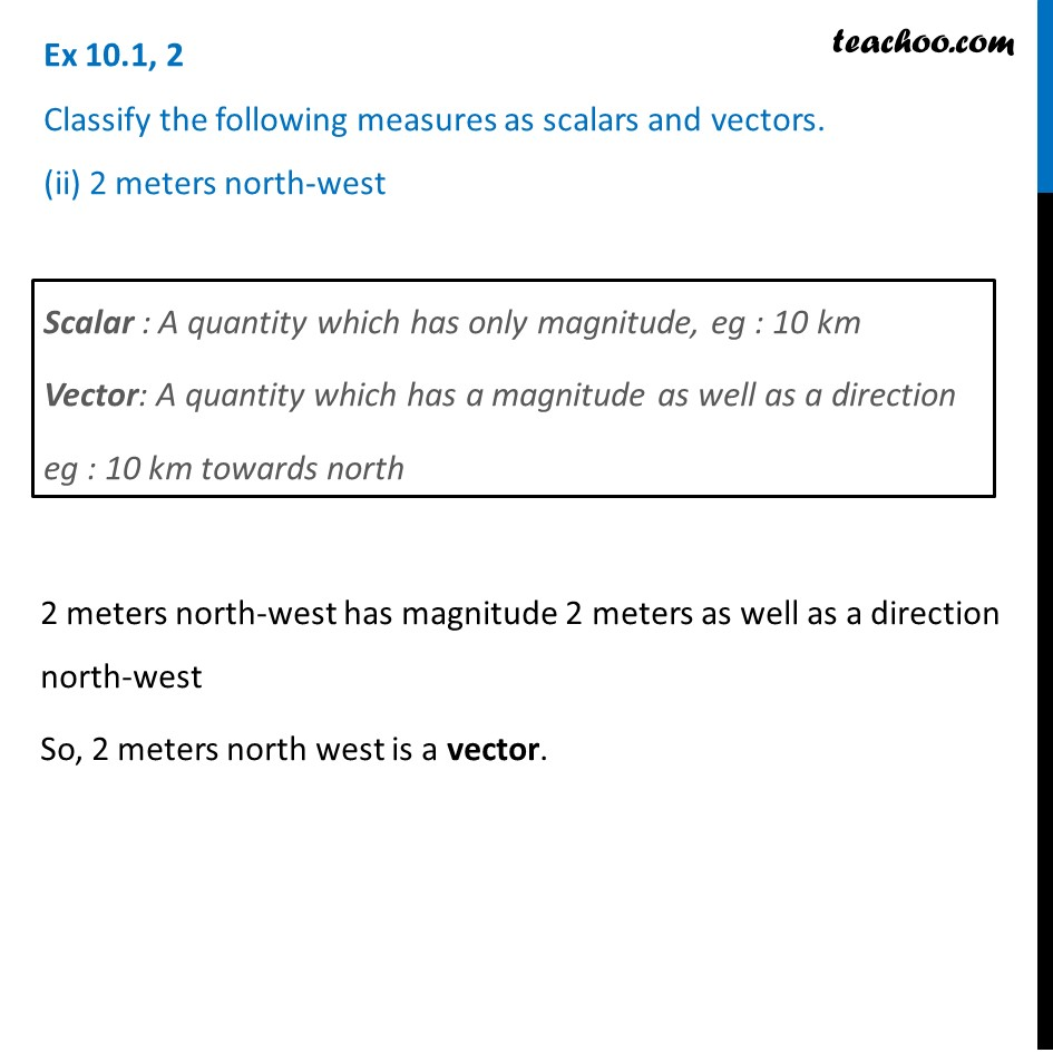 Ex 10.1, 2 - Chapter 10 Class 12 Vector Algebra - Part 2
