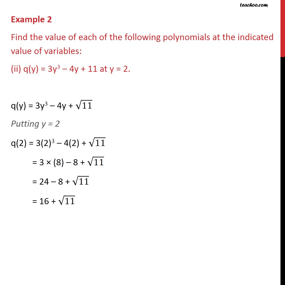 Example 2 - Chapter 2 Class 9 Polynomials - Part 2