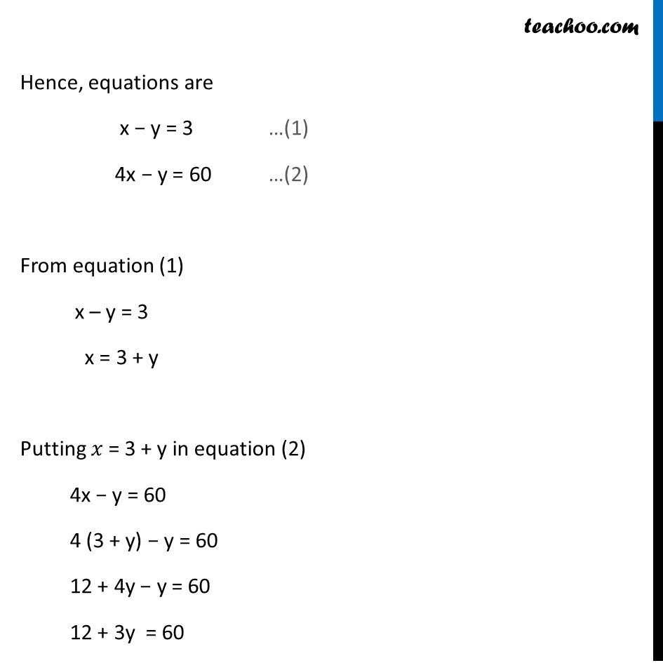 Ex 3.7, 1 (Optional) - Chapter 3 Class 10 Pair of Linear Equations in Two Variables - Part 3
