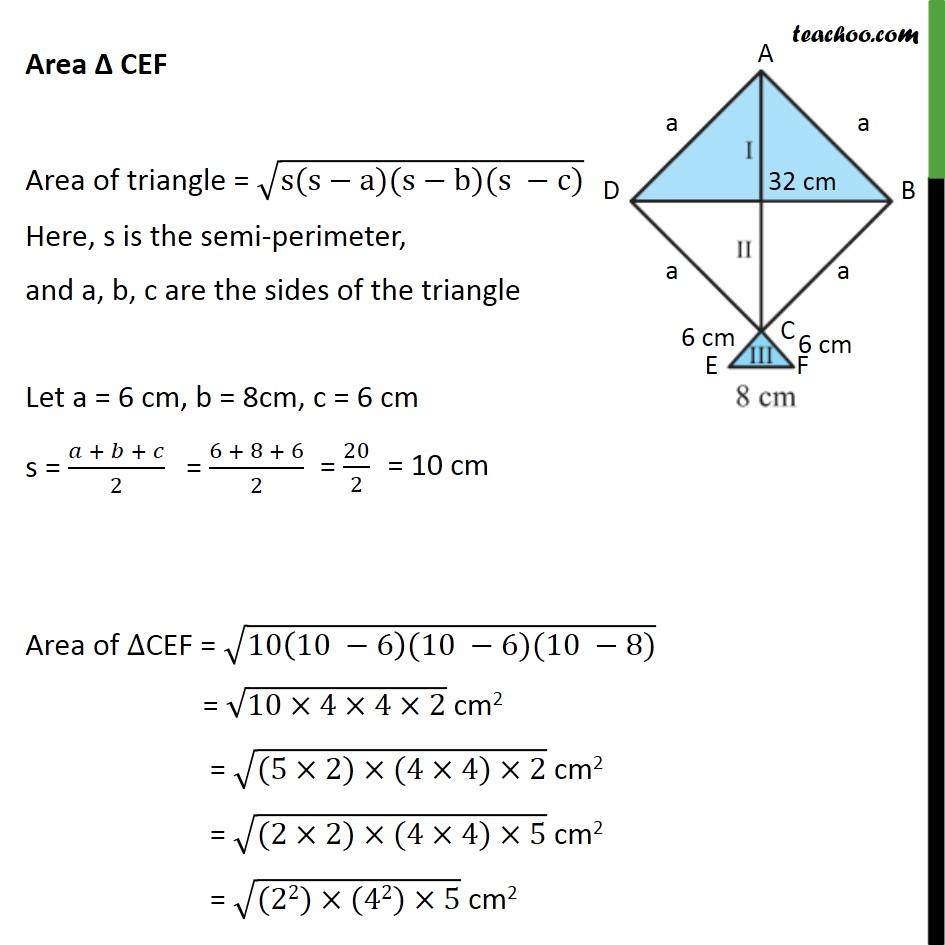 Ex 12.2, 7 - Chapter 12 Class 9 Herons Formula - Part 4