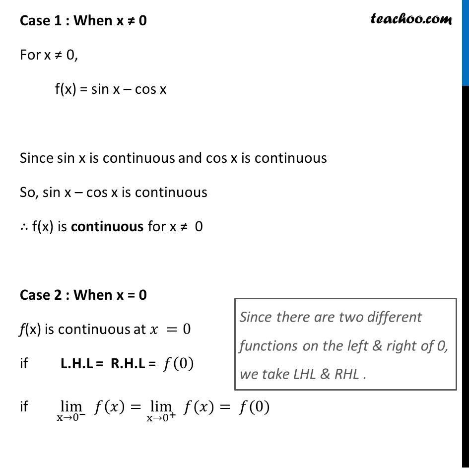 Ex 5.1, 25 - Chapter 5 Class 12 Continuity and Differentiability - Part 2