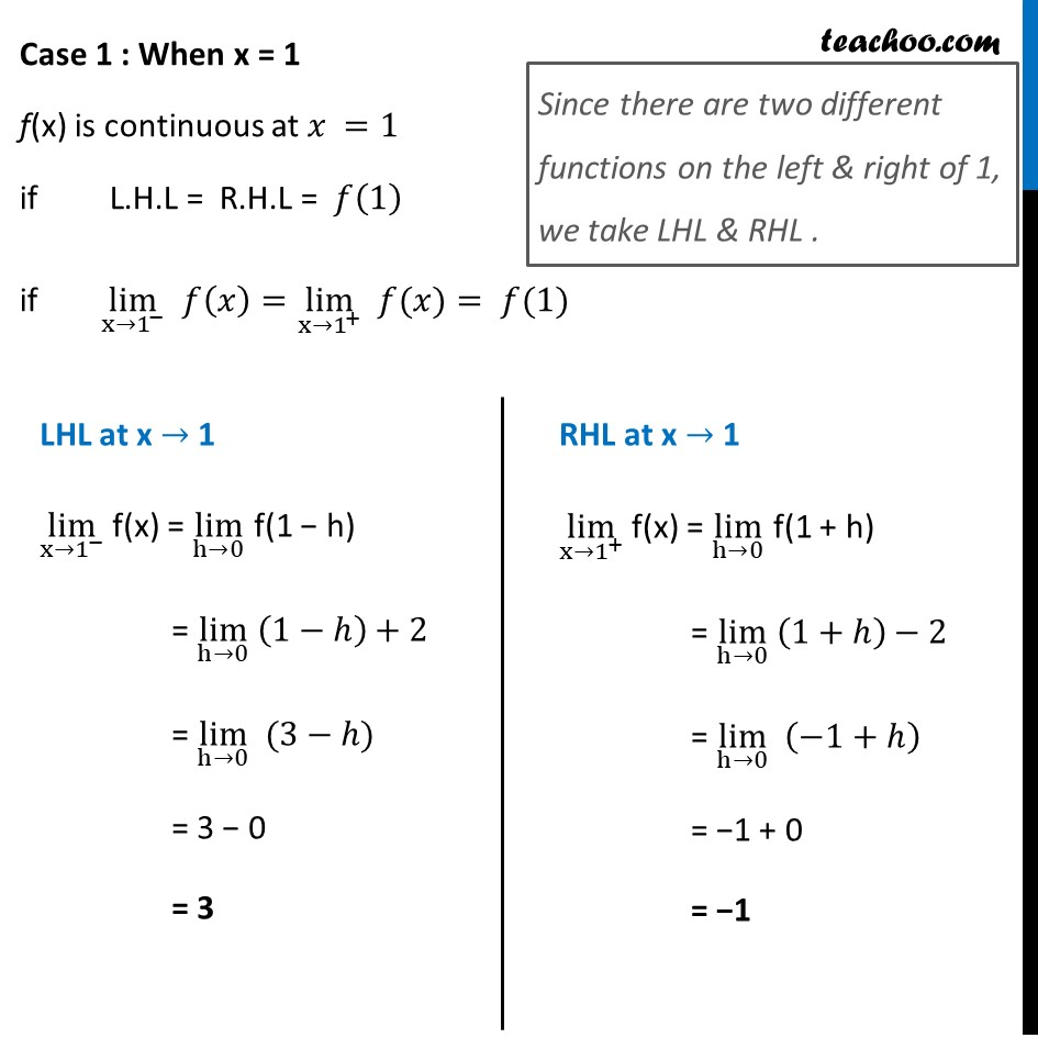 Example 11 - Chapter 5 Class 12 Continuity and Differentiability - Part 2