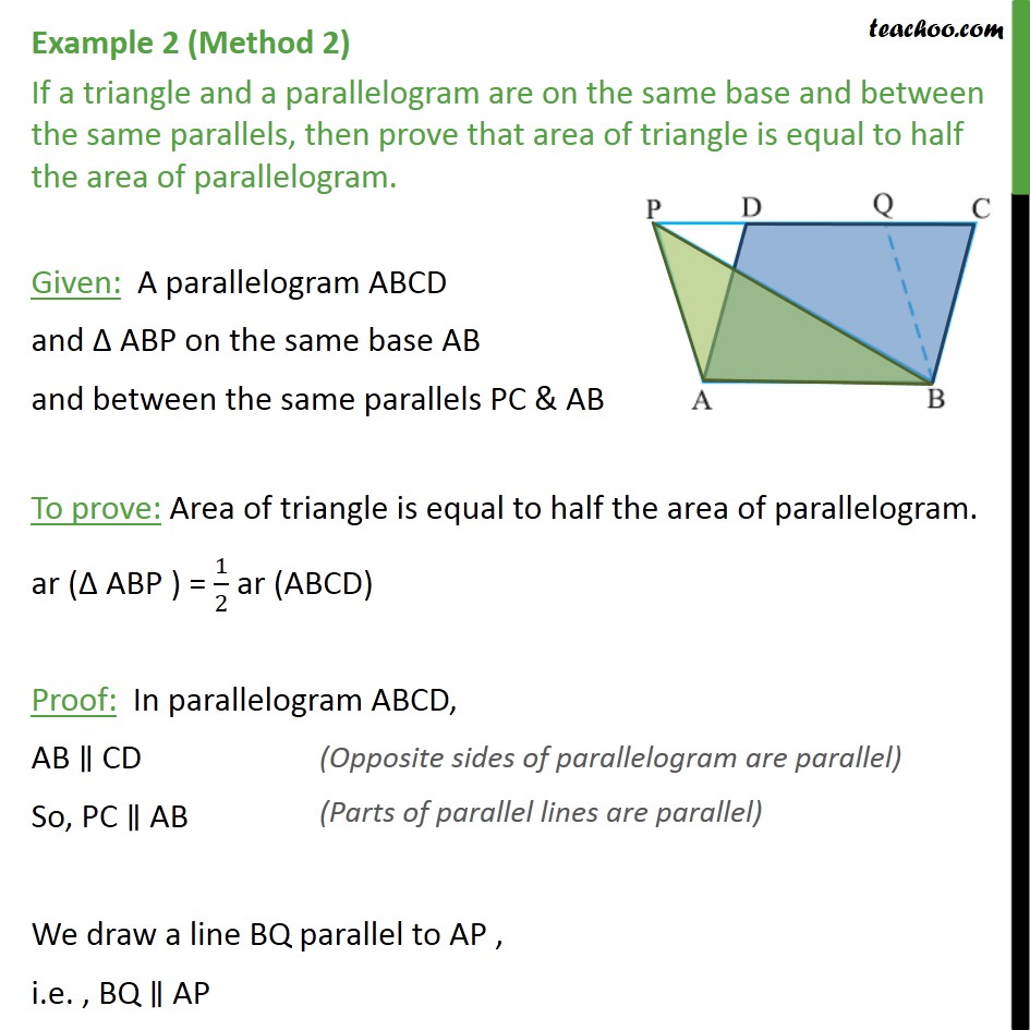 Example 2 - Chapter 9 Class 9 Areas of Parallelograms and Triangles - Part 4