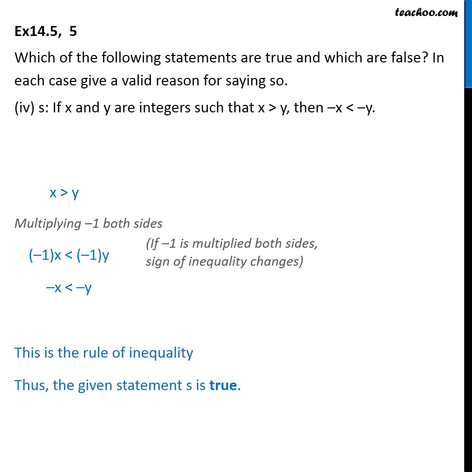 Ex 14.5,  5 - Chapter 14 Class 11 Mathematical Reasoning - Part 4