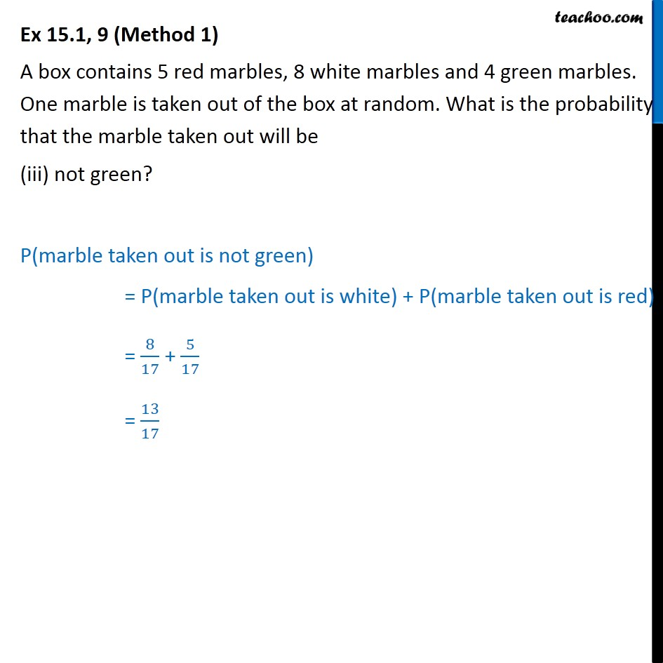 Ex 15.1, 9 - Chapter 15 Class 10 Probability - Part 3