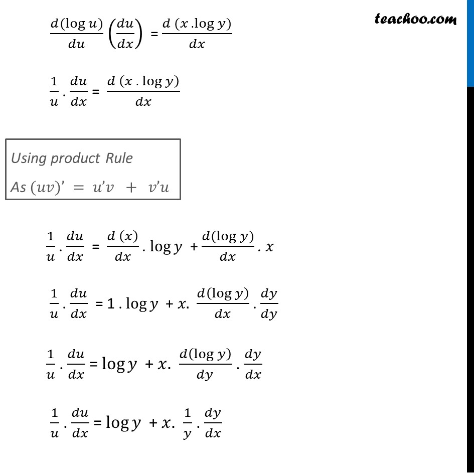 Ex 5.5, 12 - Chapter 5 Class 12 Continuity and Differentiability - Part 5