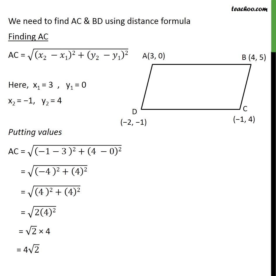 Ex 7.2, 10 - Chapter 7 Class 10 Coordinate Geometry - Part 2
