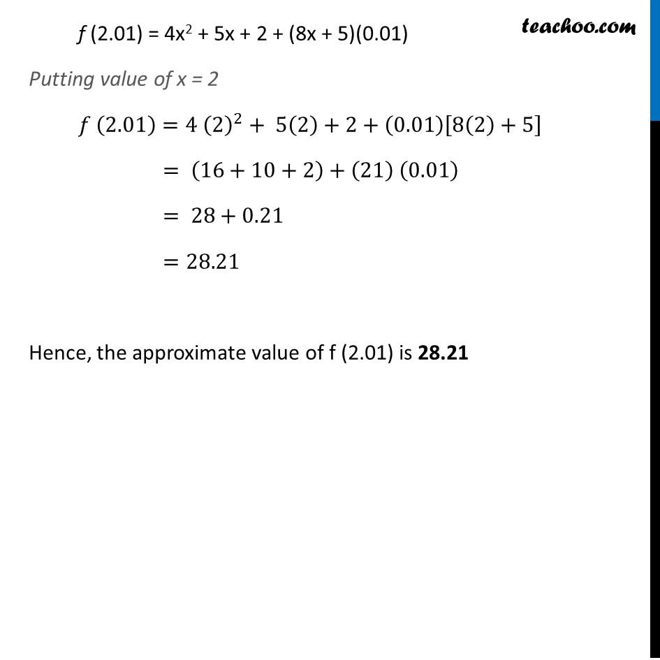Ex 6.4,2 - Chapter 6 Class 12 Application of Derivatives - Part 2