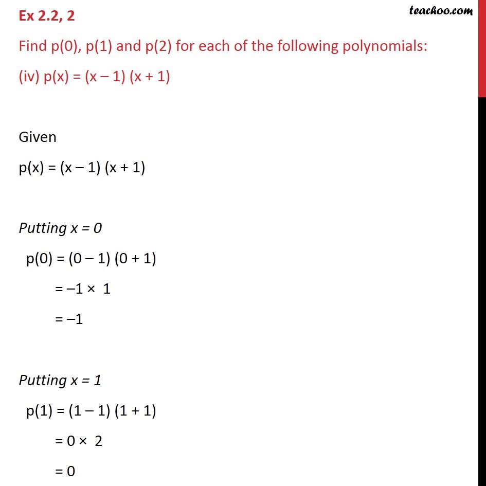 Ex 2.2, 2 - Chapter 2 Class 9 Polynomials - Part 7