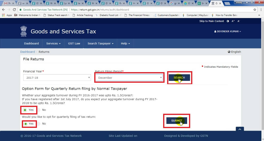 4. Select Return Filling Period then click Search button, then yes and then click submit button.jpg