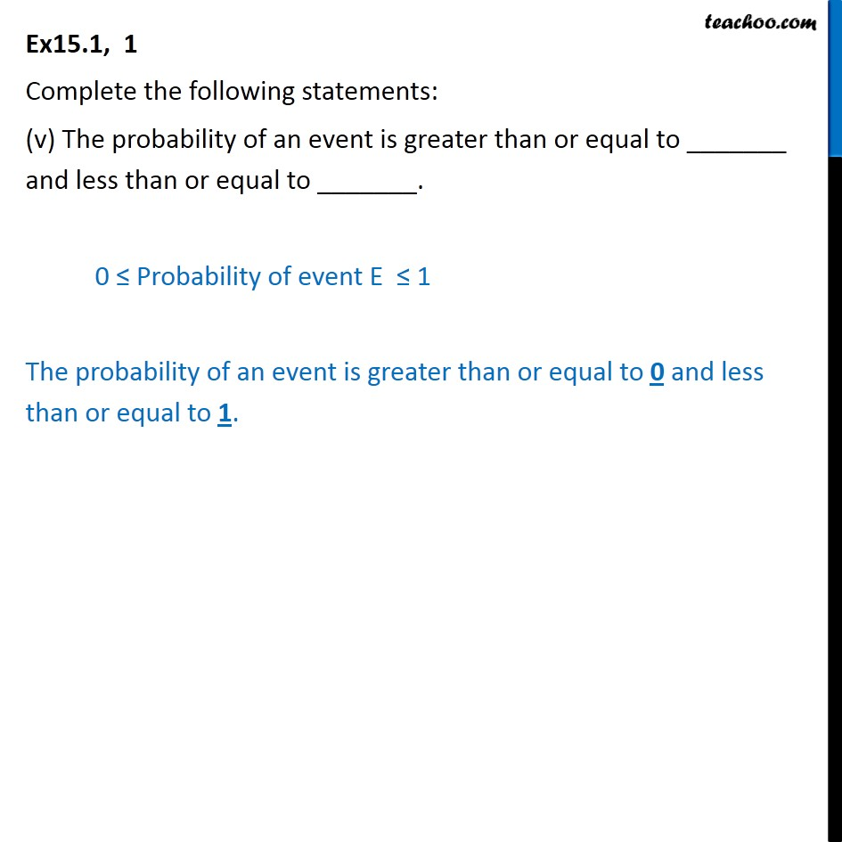 Ex 15.1, 1 - Chapter 15 Class 10 Probability - Part 5