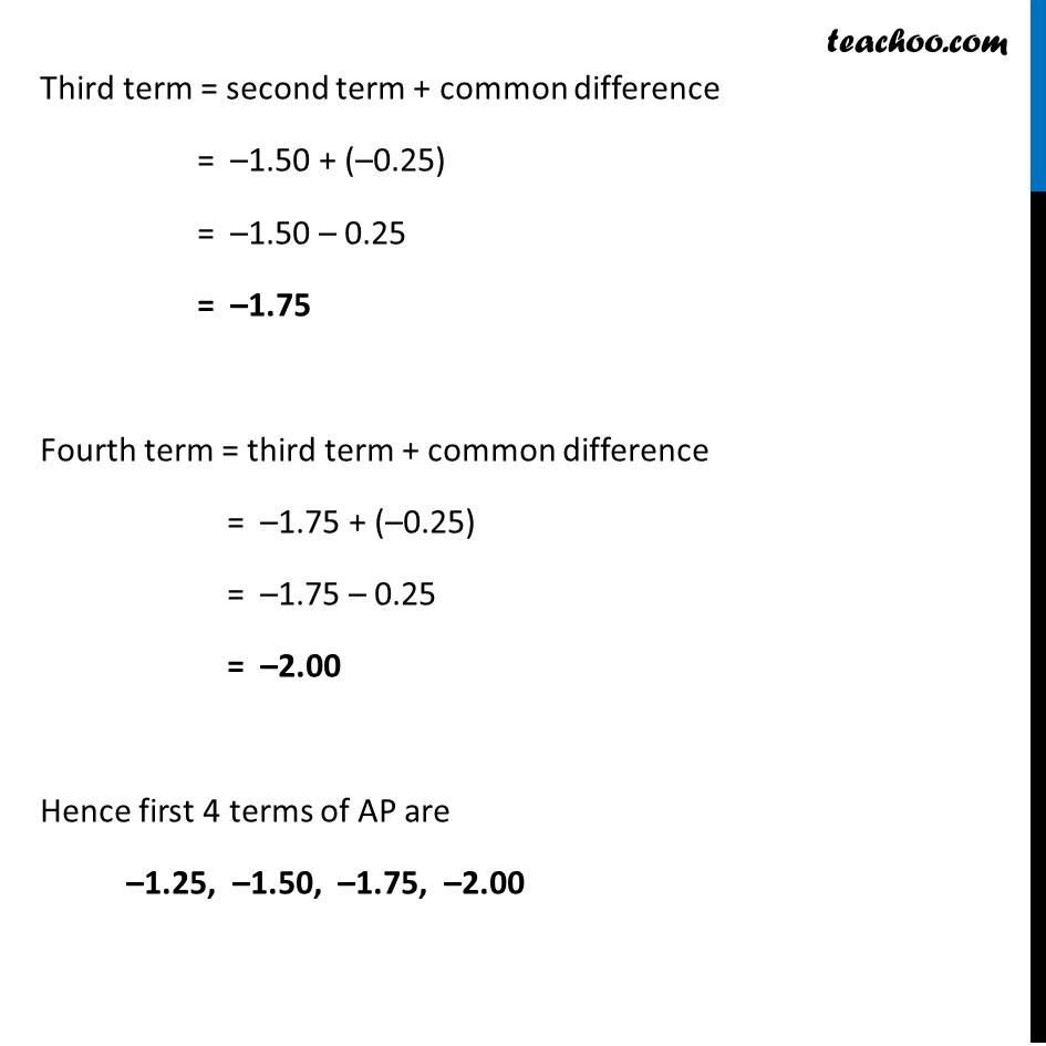 Ex 5.1, 2 - Chapter 5 Class 10 Arithmetic Progressions - Part 10