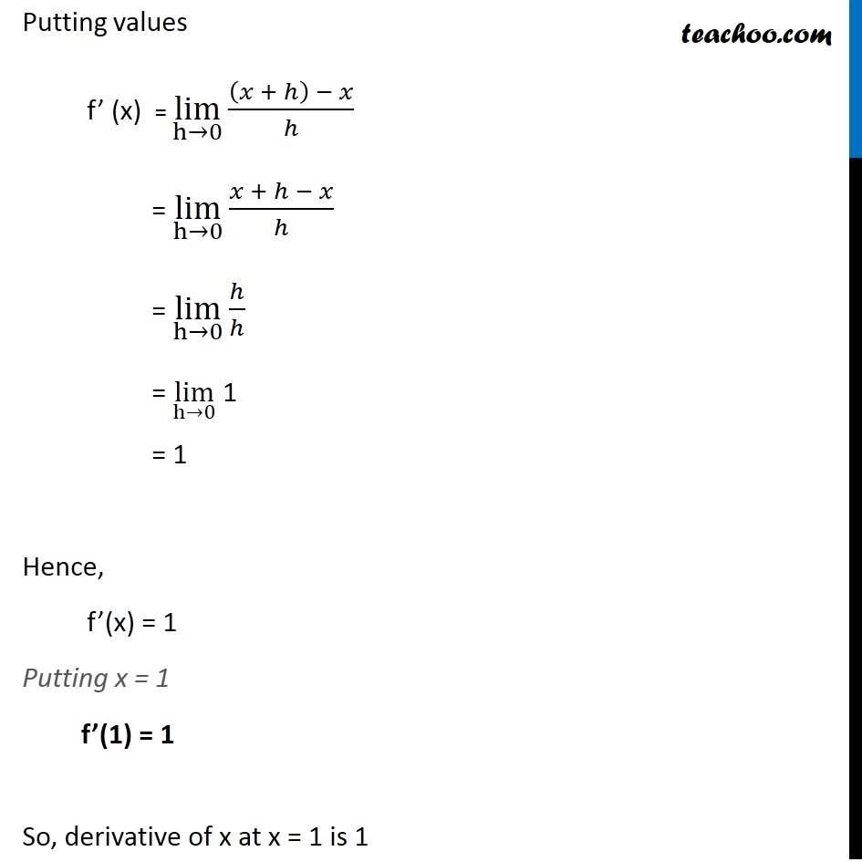 Ex 13.2, 2 - Chapter 13 Class 11 Limits and Derivatives - Part 2