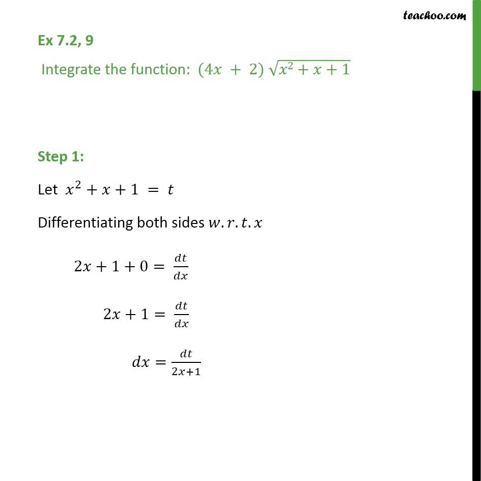 Ex 7.2, 9 - Integrate (4x + 2) root(x2 + x + 1) - Ex 7.2