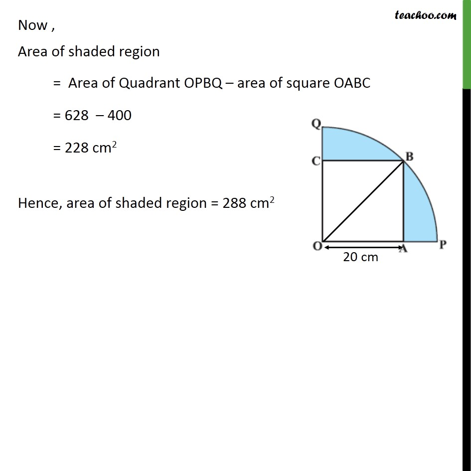 Ex 12.3, 13 - Chapter 12 Class 10 Areas related to Circles - Part 4