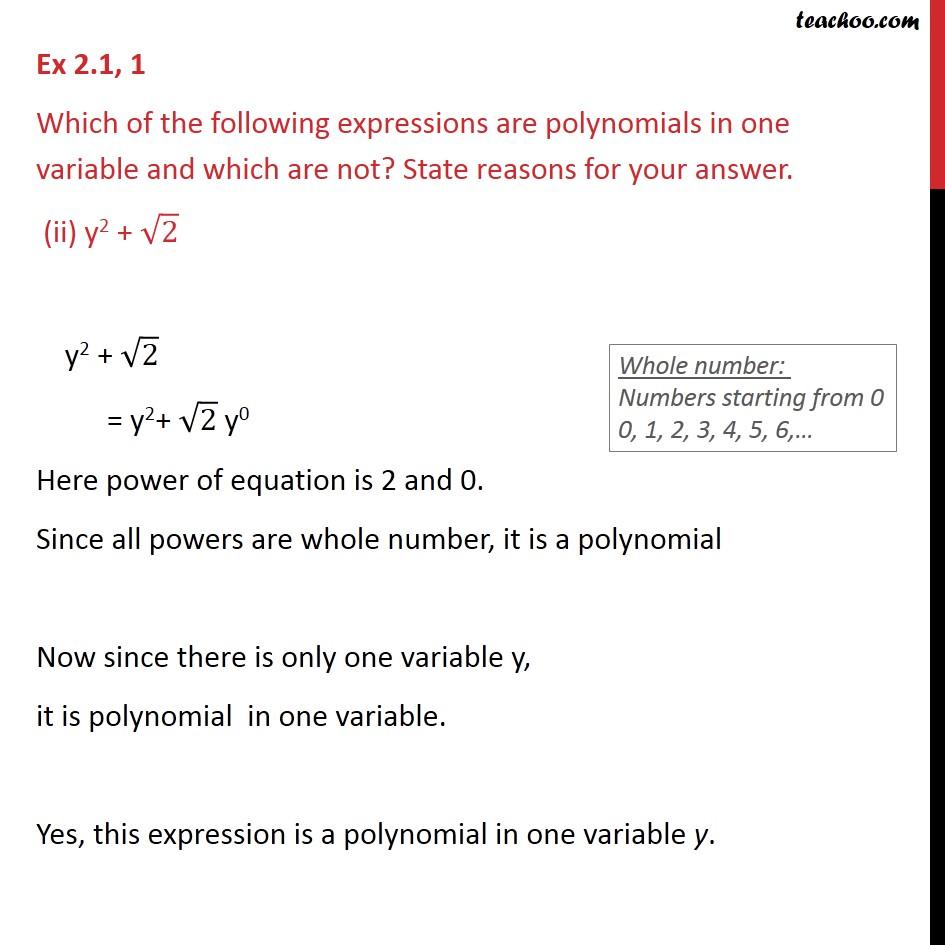 Ex 2.1, 1 - Chapter 2 Class 9 Polynomials - Part 2
