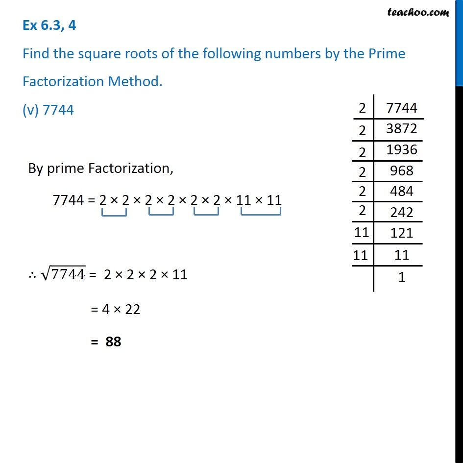 Ex 6.3, 4 - Chapter 6 Class 8 Squares and Square Roots - Part 5