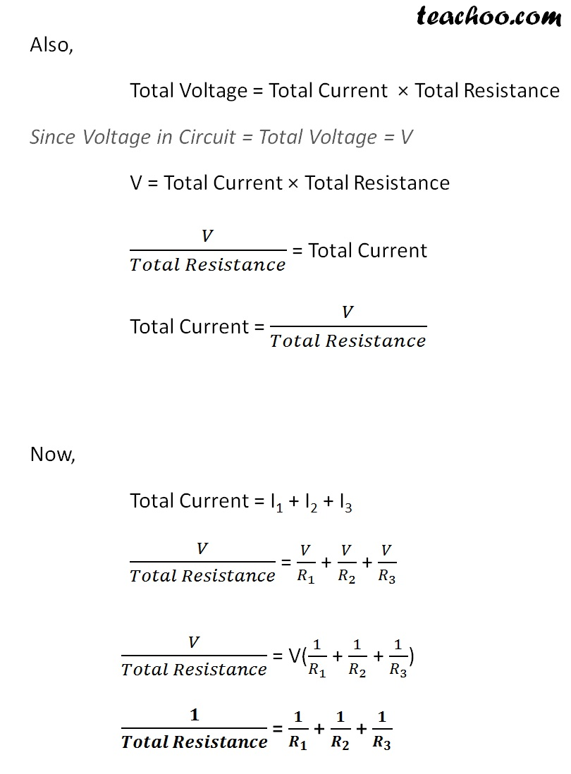 How is the Resistance formula Derived - for Parallel circuits Part 3 - Teachoo.jpg