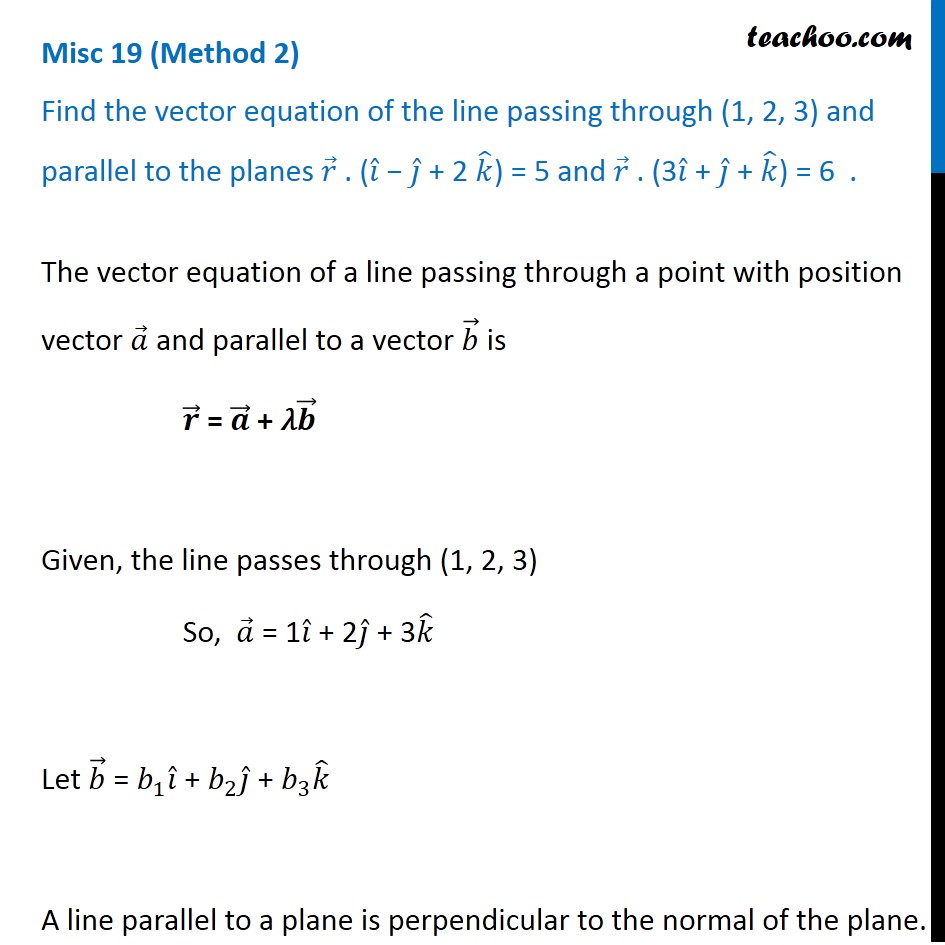 Misc 19 - Chapter 11 Class 12 Three Dimensional Geometry - Part 4