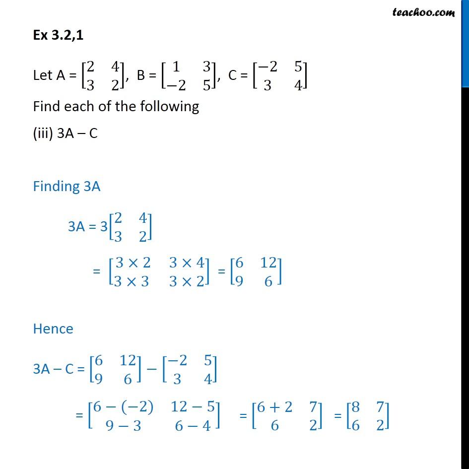 Ex 3.2, 1 - Chapter 3 Class 12 Matrices - Part 3